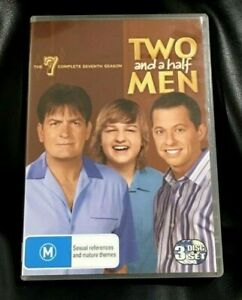 Two And A Half Men : Season 7 (DVD, 2010 3-Disc Set)Very Good Condition Region 4