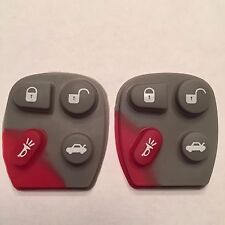 2 New Replacement 4 Button Keyless Entry Remote Pads For KOBLEAR1XT/KOBUT1BT