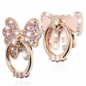 Rotating Finger Ring Stand Holder For Cell Phone iPhone Galaxy  Butterfly / Bow