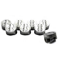SBC Chevy 350 Flat Top Pistons 4 VR Coated Skirt Std 020 030 040 060 080 H345DCP