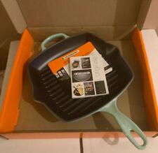 Le Creuset Cast Iron 26cm Square Grillit - Cool Mint (BNIB)
