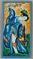 Tableau Huile sur toile de 2003 - Fleur d'Asie - Original signé Rondo (acteur)