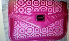 ♡♡♡ BNWT Stylish Mimco SIGNATURE  Pink SCHIAPARELLI PRINT  Leather FABRIC  bag