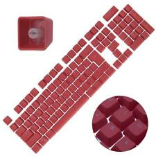Backlit Double Shot Color Keycaps Cherry MX Mechanical Keyboard Themes Red 104