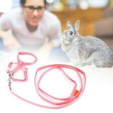 Adjustable Ferret Harness Baby Rabbit Hamster Rat Mouse Leash Lead Pink