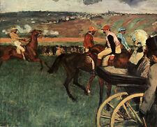 Herrenreiter Edgar Degas Pferderennen Rennplatz Vollblüter Bütten H A3 0441