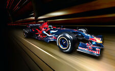 """FORMULA ONE F1 RED BULL 2007 A2 CANVAS PRINT POSTER FRAMED 23.4"""" x 15.4"""""""