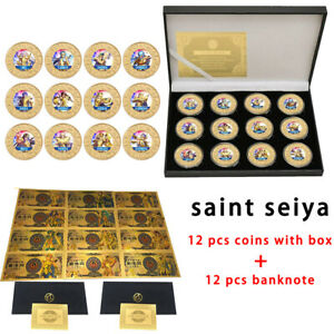 GT EX Bronze saint seiya Hyoga Cygnus Gold banknote With Anime Coins Collection