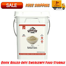 Augason Farms Quick Rolled Oats Emergency Food Storage 10 Pound Pail Food Supply