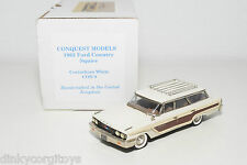 . CONQUEST MODELS 9 FORD COUNTRY SQUIRE 1963 WHITE MINT BOXED