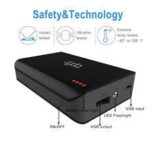 Externer Battery 6000mAh LED Powerbank Zusatzakku Akku mobile Ladegerät USB