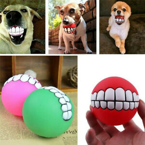 Pet Dog Toy Solid Rubber Ball Indestructible Training Chew Play Fetch Bite Toys