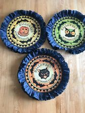 Bethany Lowe Halloween Mummers Medallion--Set Of 3--Retired