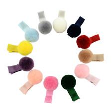 12Pcs Mixed Kawaii Ball Hair Clip Pin Pom Pom Barrettes Headwear For Kids Girls