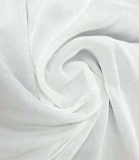 Crinkle SILK CHIFFON FABRIC SNOW WHITE, per 2 M.Discount Material Cheap Cool