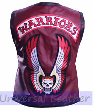 The Warriors Movie Leather Vest Jacket Bikers Hollywood Halloween Costume