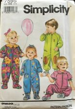 Simplicity Sewing Pattern 7595 Toddler Romper & Slippers Pattern Size 2-4 Uncut