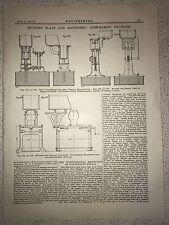 Foundry Plant/Machinery, Core Making Machines: 1912 Engineering Magazine Print