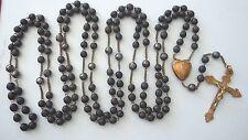 † NUN 1800s 15-Decade WOODEN BEADS ~ SAINT ANNE DE BEAUPRE PILGRIMAGE Rosary †
