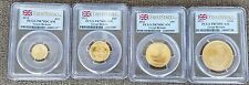 2012 UK Britannia Gold Proof Gold 4 Coin Set - ALL PCGS PR70DCAM - RARE