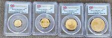 2012 UK Britannia Gold Proof Gold 4 Coin Set - ALL PCGS PR70DCAM - RARE