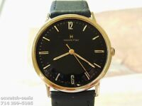 1960's Vintage HAMILTON Manual Wind, Stunning Black Dial, Serviced & Warranty