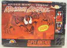 Maximum Carnage (Super Nintendo) NEW!!! FACTORY SEALED!!!