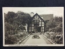 RP Postcard Stratford On Avon - Shakespeare Birthplace: From Garden #S170