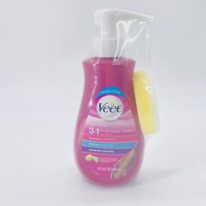 Veet 3 in 1 In-Shower Cream Hair Remover Sensitive Formula 13.5 oz.