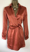 Pretty Little Thing Burnt Orange Blazer Dress Size Uk 8