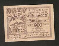 Austria ZIERSDORF 20 heller 1920 Austrian Notgeld