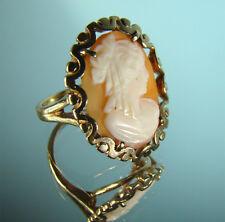 Exquisiter Gold Ring Kamee Gemme Cameo Gr 53/ 4g Goldschmiede-Punze S+H Unikat
