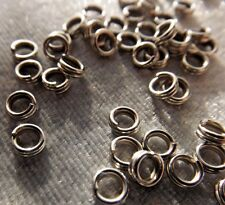 STEEL SPLIT RINGS FINDINGS 4 MM 100 PIECES