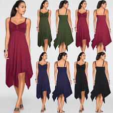 Ladies Prom Formal Evening Cocktail Party Flared Swing Dress Skater Size 8-16-20