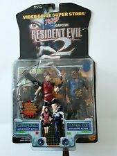 Resident Evil 2 1998 Toy Biz Claire Redfield And Zombie Cop NIP