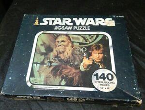 VINTAGE 1977 KENNER STAR WARS JIGSAW PUZZLE 140 PC 14X18 NO. 40100 CHEWBACCA
