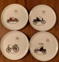 Salem 23 Karat Gold Made In USA Vintage China Automobile Collector Dinner Plates