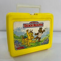 The World of Teddy Ruxpin Vintage 1986 Alchemy II Plastic School Carry Lunchbox