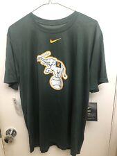 Men's Oakland Athletics Nike Green Team Large Logo T-Shirt NWT Large L