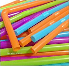 50 X High Quality  Flexible Bendy  Smoothie  Drinking Straws Assorted Coloured