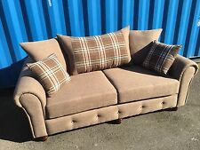 """NEW  BARCELONA 3&2 SEATER SOFAS"""" NUTMEG"""" ALSO AVAILABLE IN OTHER COLOURS"""