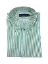 Ralph Lauren Mens Big & Tall Button Down Dress Shirt Green Stripe Oxford 3XLT