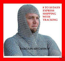 Unique christmas gifts Medieval Knights Armor Functional Butted Chain Mail Coif