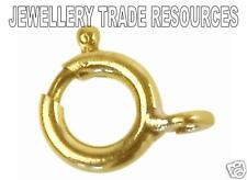 18ct Yellow Gold Heavy Bolt Ring Jewellery Clasp 5mm Boltring