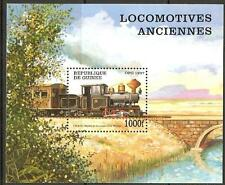GUINEA SGMS1767 1997 STEAM LOCOMOTIVES M/SHEET MNH