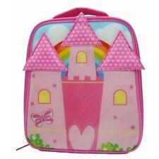 Girls Kids Childrens Pink Princess Fairy Castle Lunch Sandwich Cooler Bag School