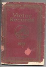1921 Victor Record Catalog