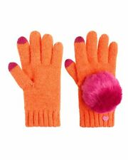 JUICY COUTURE GIRL'S ORANGE POM POM TEXTING GLOVES ORG. $48.00 ONE SIZE BNWT