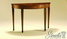 35558: MAITLAND SMITH 1/2 Round Inlaid Mahogany Console Table #3430-830 ~ NEW