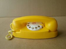 Vintage Yellow Handi - Craft Play Phone, Rotary Dial w/ Bell - St Louis, MO. USA